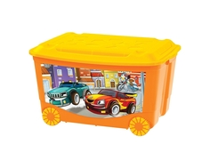 Ящик для игрушек Пластишка «Тачки/Пираты» на колесах 50 л в ассортименте