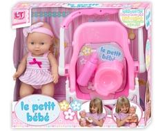 Кукла LokoToys «Le Petit Bebe» с автокреслом 30 см