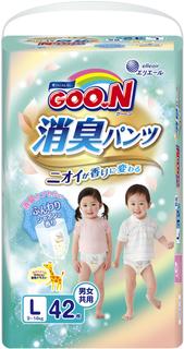 Трусики-подгузники Goo.N Aromagic L (9-14 кг) 42 шт. Goon