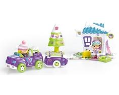 Игровой набор Famosa «Пинипон. Зимний домик с машинкой»