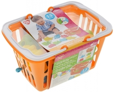 Игровой набор PlayGo «Транспортые игрушки» в корзине