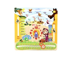 Логическая игра Затейники «Маша и Медведь: Календарь» деревянная