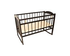 Кроватка Уренский леспромхоз «Заюшка» колесо и качалка темно-коричневая Урень