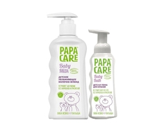 Набор Papa Care пенка для купания 250 мл + молочко-флюид увлажняющее 150 мл