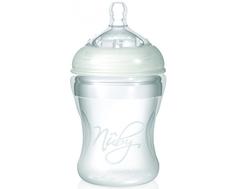 Бутылочка для кормления Nuby «Natural Touch» с силиконовой соской средний поток 3 мес.+, 210 мл.