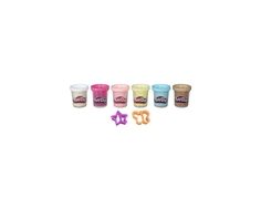 Пластилин Play-Doh 6 баночек с конфетти