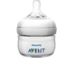 Бутылочка для кормления Philips AVENT «Natural» с силиконовой соской 0+, 60 мл.