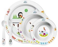 Набор посуды Philips AVENT тарелки 3 шт. + вилка + ложка с 6 мес.
