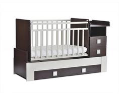 Кроватка-трансформер СКВ-Компани 830038-1 венге/белая