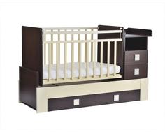 Кроватка-трансформер СКВ-Компани 830038-9 венге/бежевая