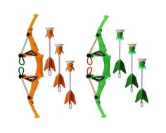 Лук Zing средний с тремя стрелами на присосках подсветкой в ассортименте