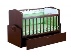 Кроватка Daka Baby «Укачай-ка 02» попереч. маятник венге Dakababy