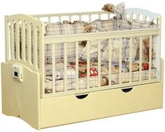 Кроватка Daka Baby «Укачай-ка 03» попереч. маятник ваниль Dakababy