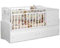 Кроватка-трансформер Daka Baby 03 белая Dakababy