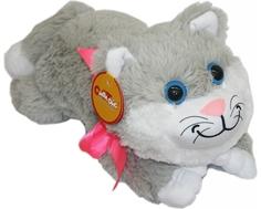 Мягкая игрушка СмолТойс «Котенок» 70 см серая
