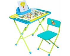 Комплект мебели Nika kids «Пушистая азбука» стол 60х45 см с большим пеналом и стул