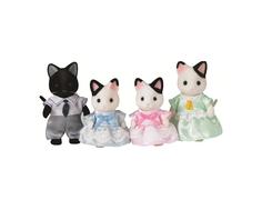 Игровой набор Sylvanian Families «Семья чёрно-белых котов»