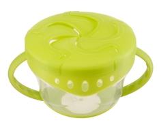Кружка Happy Baby «Snack Bowl» для снеков с двумя крышками в ассортименте