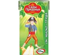Сок Сады Придонья Яблоко и груша с мякотью с 5 мес. 125 мл