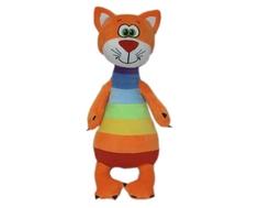 Мягкая игрушка СмолТойс «Котенок Радужный» 47 см