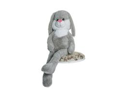 Мягкая игрушка СмолТойс «Заяц» 100 см серая