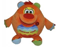 Мягкая игрушка СмолТойс «Мишка развивашка» 38 см оранжевая