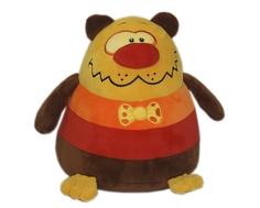 Мягкая игрушка СмолТойс «Медвежонок-шарик» 26 см желто-коричневая