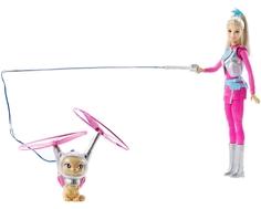Кукла Barbie «Космические приключения» с летающим котом Попкорном 29 см