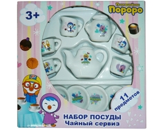 Игровой набор посуды 1TOY «Пингвинёнок Пороро» 11 пр.