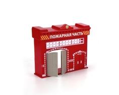 Игровой набор Технопарк «Пожарная часть» с 1 машинкой