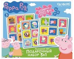 Подарочный набор Origami «Peppa Pig: 3 игры и 3 пазла»