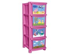 Комод Little Angel «Свинка Пеппа» розовый 4 ящика