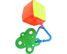 Прорезыватель-погремушка Пластмастер «Кубик радужный №2»