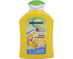 Гель для душа и шампунь Sanosan «Банан» 200 мл
