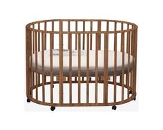 Кроватка круглая DakaBaby «Genesis Gallileo» 3 в 1 орех