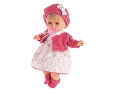 Кукла Munecas Antonio Juan «Кристиана» в малиновом 30 см