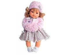 Кукла Munecas Antonio Juan «Белла» в розовом плачущая 42 см