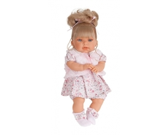 Кукла Munecas Antonio Juan «Лучия» в розовом говорящая 37 см