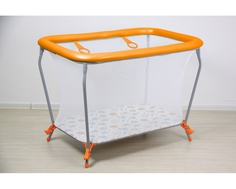 Манеж Фея Классика «Совы» 107х73х77 см оранжевый