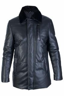 Кожаная куртка с ветрозащитной планкой ENZO