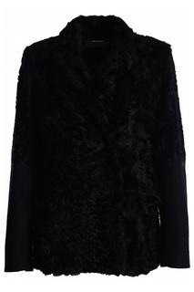 Пальто с мехом Alberta Ferretti