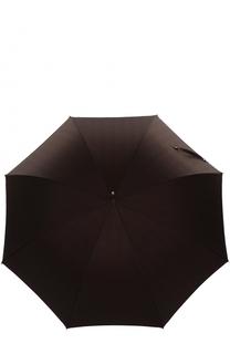 Зонт-трость с ручкой из плетеной кожи Pasotti Ombrelli