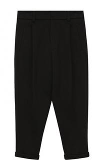 Хлопковые брюки с отворотами Dolce & Gabbana