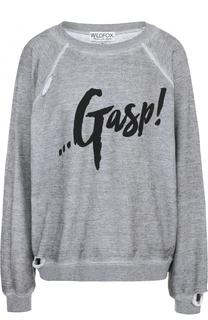 Пуловер с круглым вырезом и надписью Wildfox