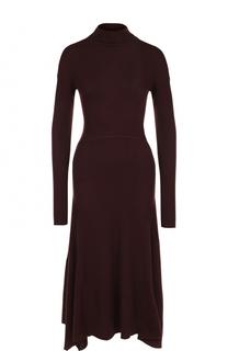 Шерстяное приталенное платье-миди Theory