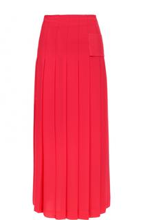 Однотонная юбка-миди в складку Victoria Beckham
