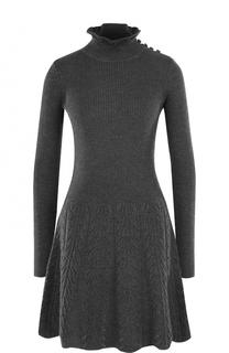Шерстяное мини-платье с длинным рукавом See by Chloé