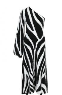 Приталенное платье-миди асимметричного кроя Emilio Pucci