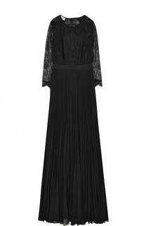 Платье с плиссированной юбкой и кружевным лифом Weill