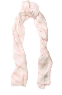 Шелковый шарф с принтом Roberto Cavalli